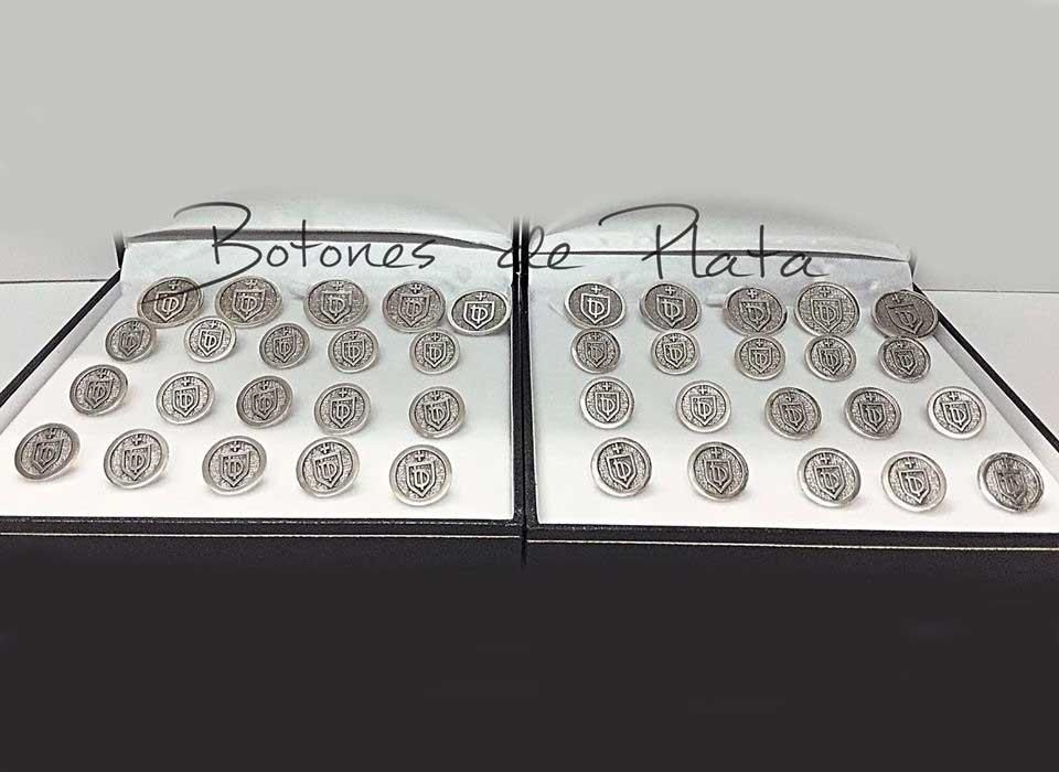 Botones de Plata-botonadura-cerco-liso-envejecido-9