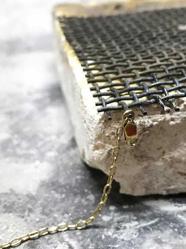 botones de plata-Cadena-oro-soldar-asa-del-cierre