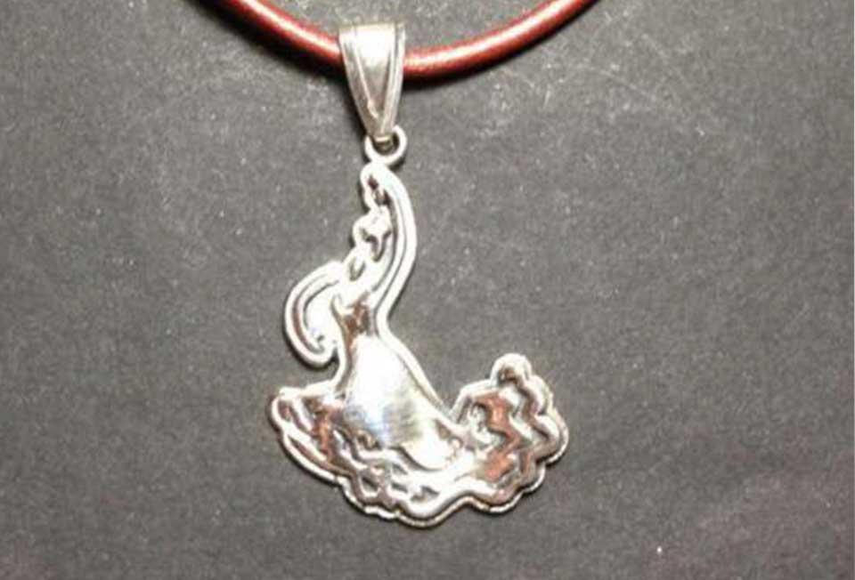Botones de Plata-colgante plata flamenca