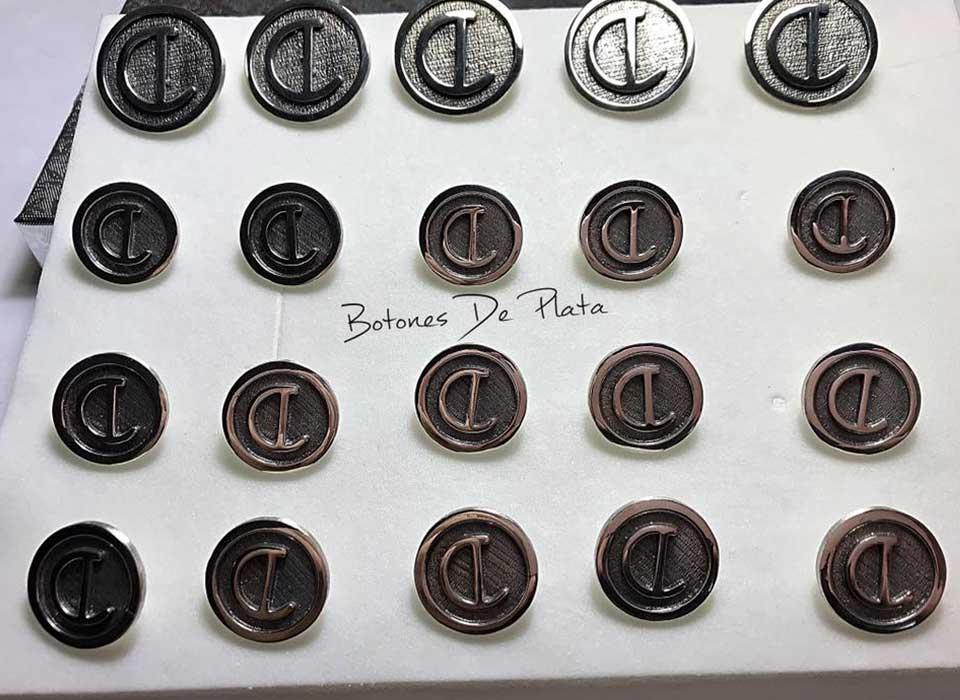 Botones de Plata-botonadura-cerco-liso-envejecido-3