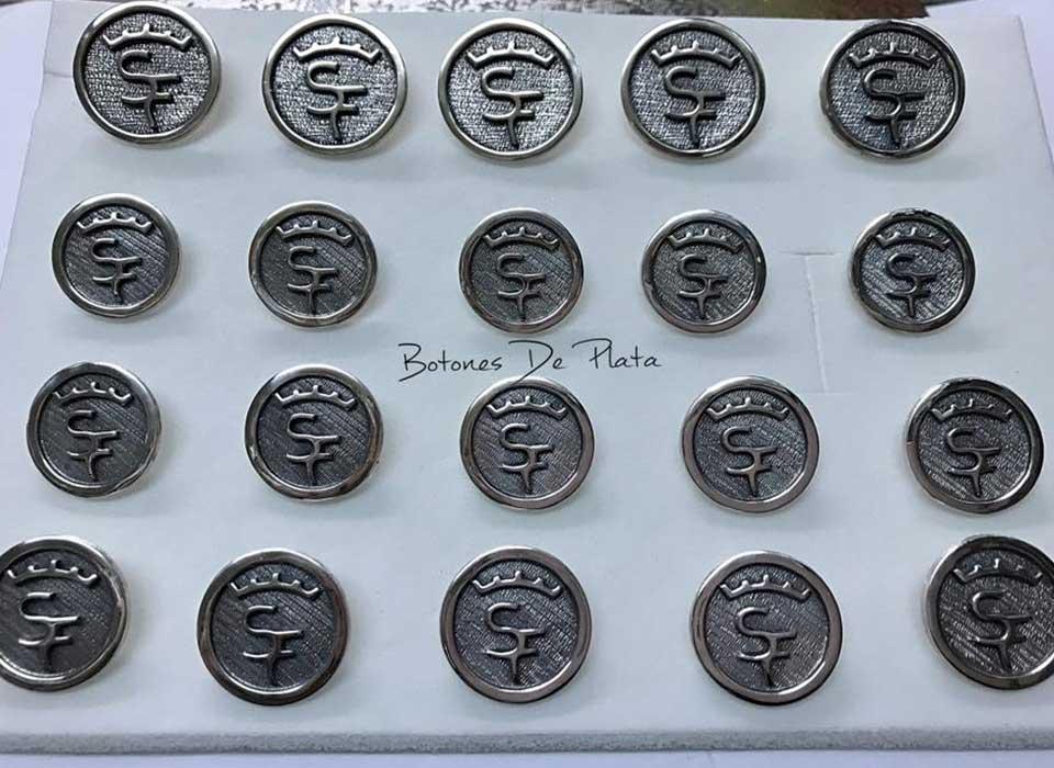 Botones de Plata-botonadura-cerco-liso-envejecido-5