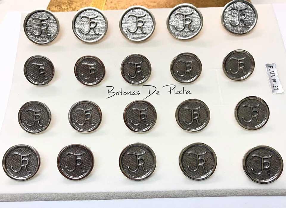 Botones de Plata-botonadura-cerco-liso-envejecido-7