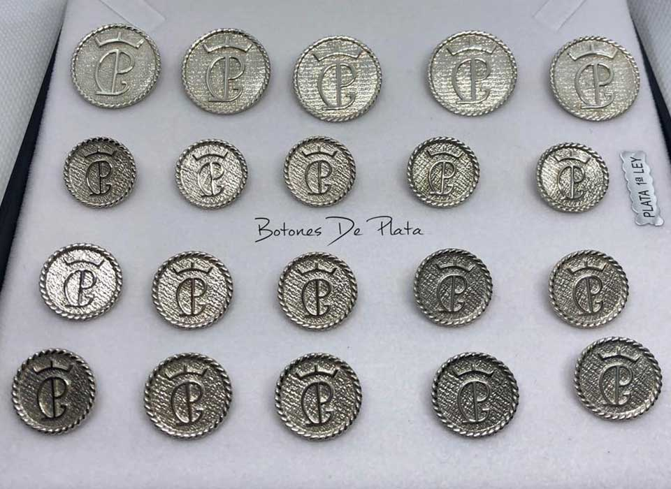 Botones de Plata-botonadura-cerco-salomonico-brillante-2