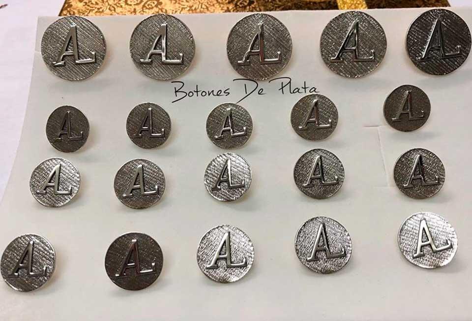 Botones de Plata-botonadura-sin-cerco-envejecido-333