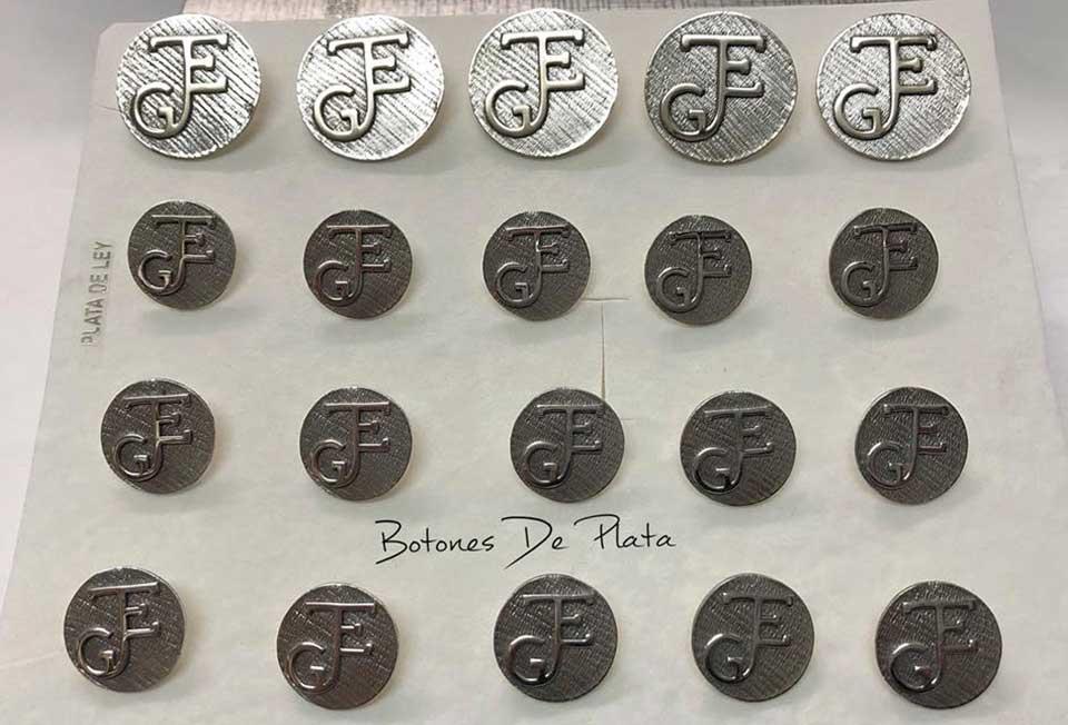Botones de Plata-botonadura-sin-cerco-envejecido