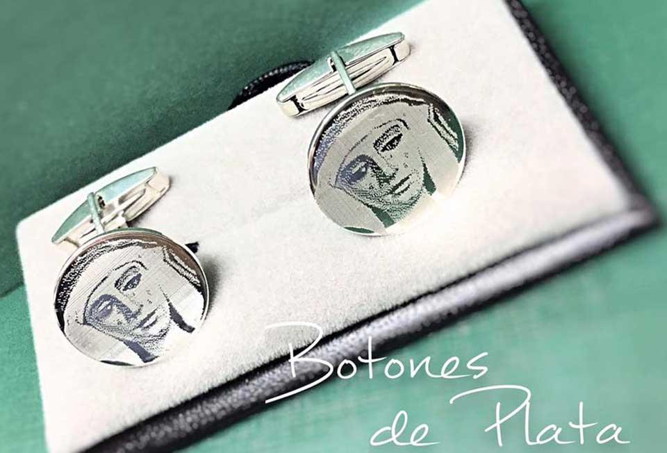 Botones de Plata-gemelos-fotograbado