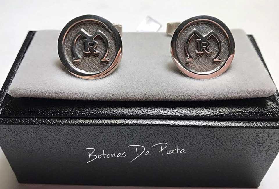 Botones de Plata-gemelos-liso-10