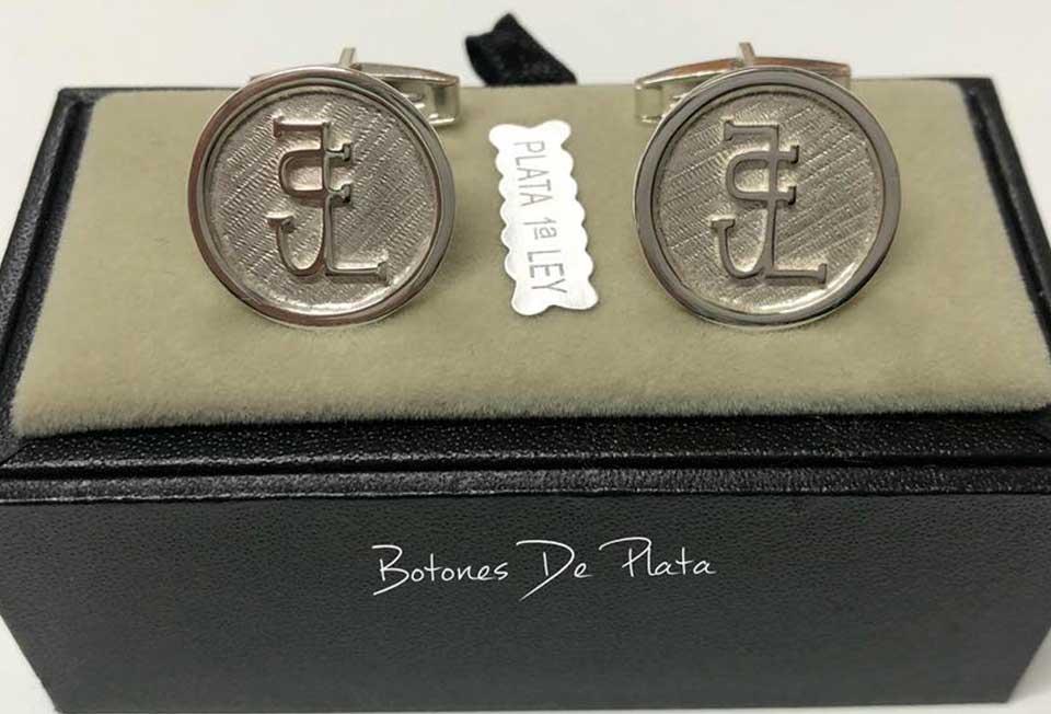 Botones de Plata-gemelos-liso-6